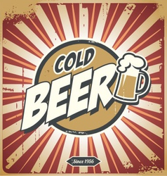 Vintage beer sign vector