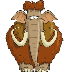 furry mammoth vector image vector image