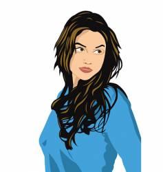 girl's portrait vector image vector image