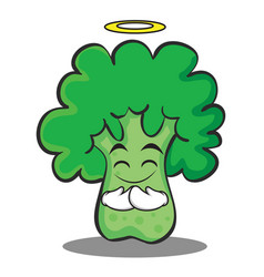 innocent broccoli chracter cartoon style vector image vector image