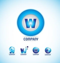 Letter W circle logo vector image vector image