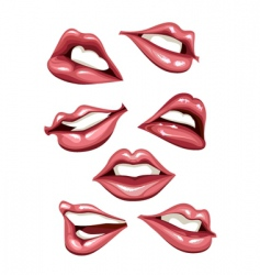 lips set vector image vector image