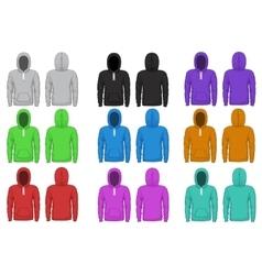 Raglan hoodie template vector image