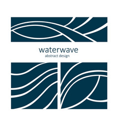 set water wave logo abstract design vector image