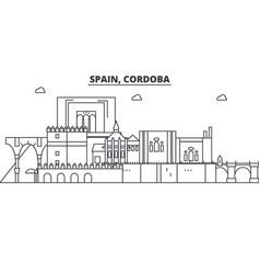 spain cordoba architecture line skyline vector image