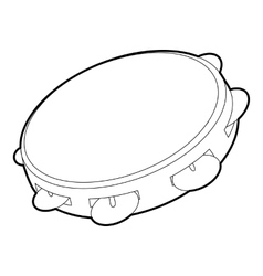 Tambourine icon outline isometric style vector image vector image