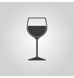 The wineglass icon Goblet symbol Flat vector image vector image