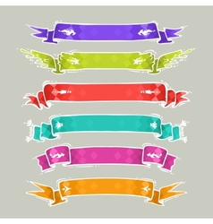 Cartoon Ribbons Set2 vector image