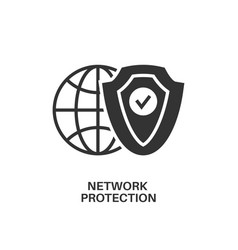 network protection icon vector image vector image