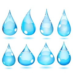 Opaque drops in saturated light blue colors vector image