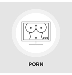 Pornography icon flat vector image vector image