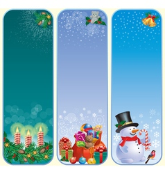 Vertical Christmas banners vector image