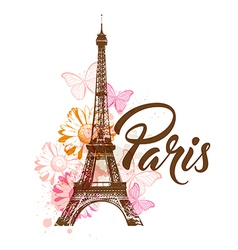 Abstract background with Eiffel tower vector image