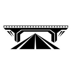 concrete bridge icon simple black style vector image