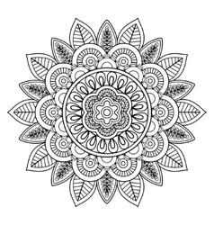 Ethnic boho doodle floral mandala vector image vector image