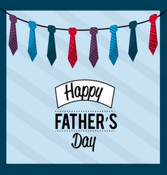 Father day card with ties decoration vector