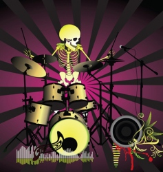 music poster skeleton vector image vector image