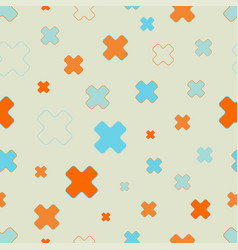 seamless pattern of cross signs scattered vector image vector image