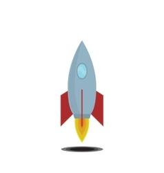 Simple icon cartoon space ship vector image