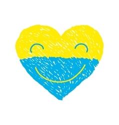 Ukraine heart vector image