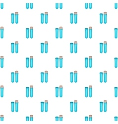 Vial for blood collection pattern cartoon style vector
