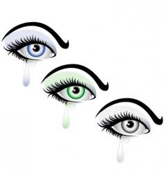 crying eye vector image