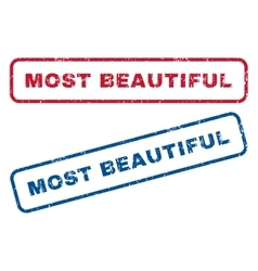 Most Beautiful Rubber Stamps vector image vector image