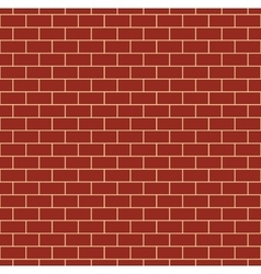 Red Brick Wall Seamless Pattern vector image vector image