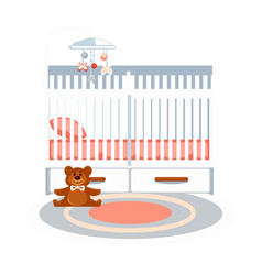small baby bedroom vector image