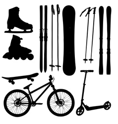 sports Equipment silhouette vector image