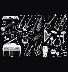 A set of musical instruments collection of vector