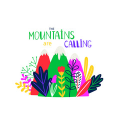 Abstract colored mountain t-shirt design vector