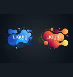 abstract liquid shape fluid design vector image