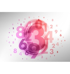 Abstract numbers red vector