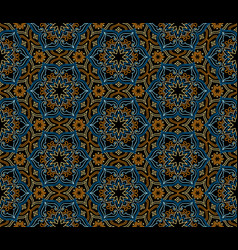 Abstract oriental floral seamless pattern arabic vector
