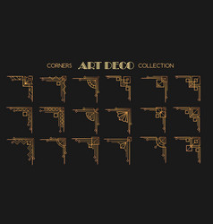 art deco corners set vector image