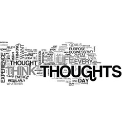 before you think that next thought text word vector image