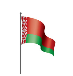 belarus flag on a white vector image
