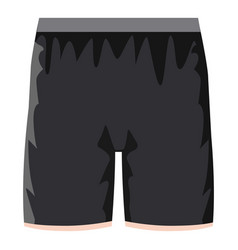 Black soccer shorts icon cartoon style vector