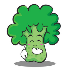 Blush broccoli chracter cartoon style vector