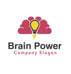 Brain power design vector