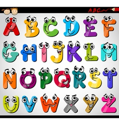 Capital letters alphabet cartoon vector