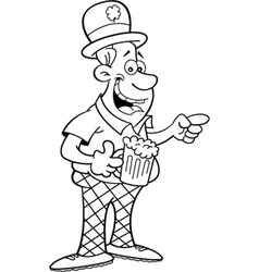 Cartoon Man Wearing a Derby vector image