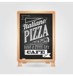 Chalk drawings Menu Pizza Retro typography vector