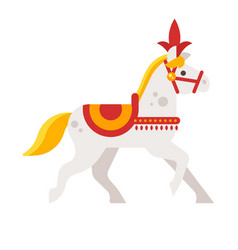 circus white horse vector image