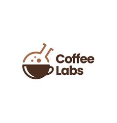 Coffee laboratory lab cup logo icon vector