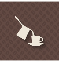 coffee turk and cup on seamless background vector image