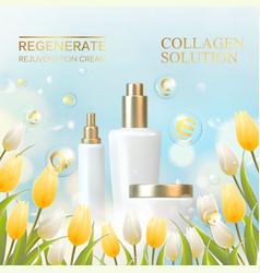collagen regenerate cream vector image