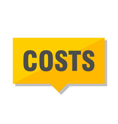 Costs price tag vector