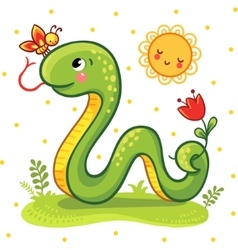 Cute Snake in vector image